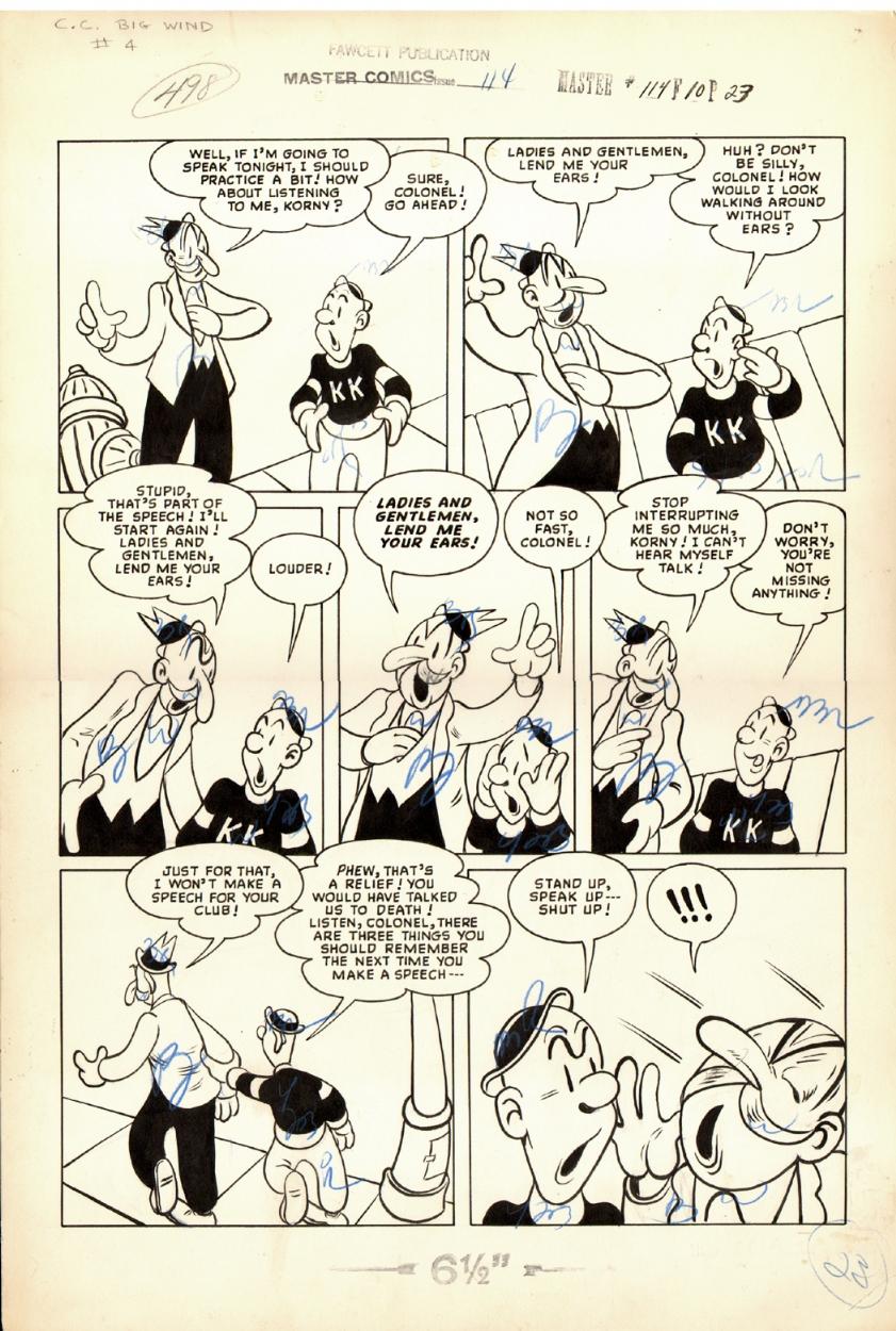 Master Comics #114 p 23 (Large Art) 1950