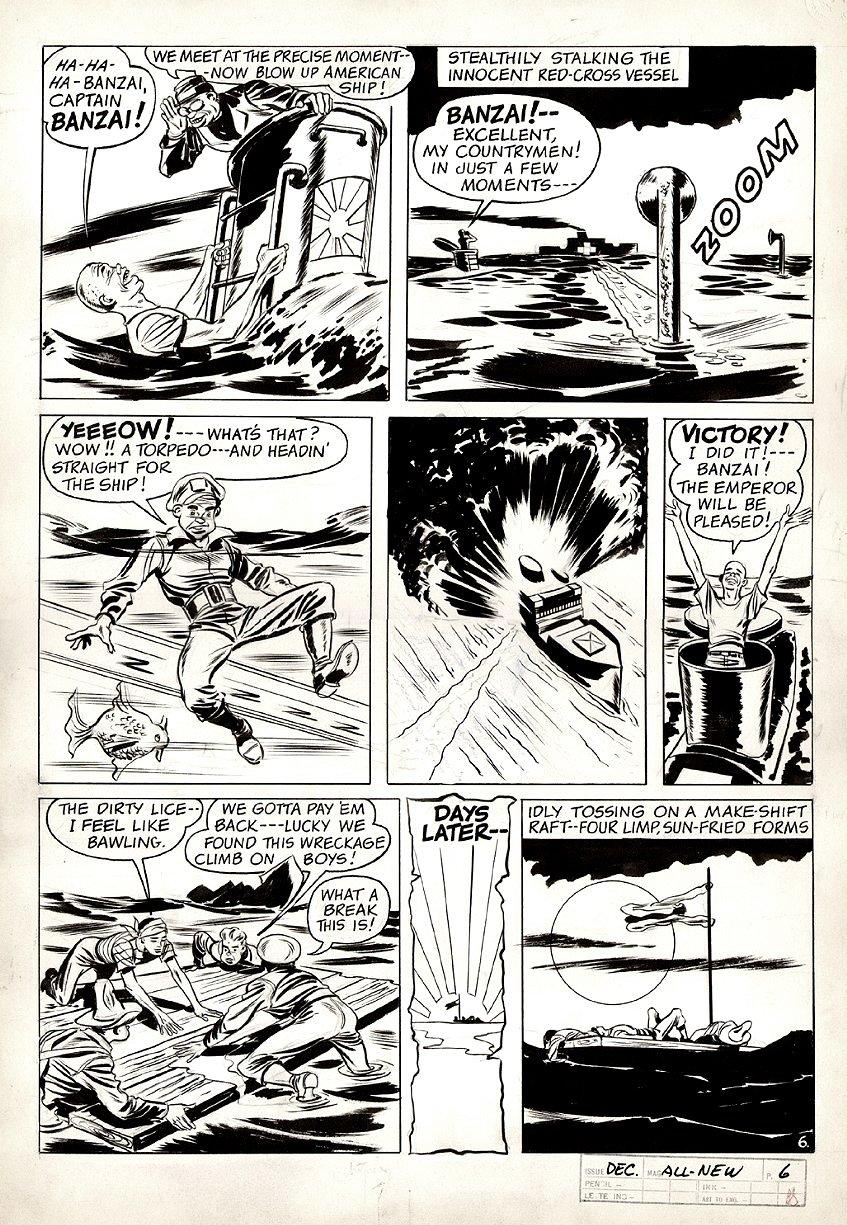 All-New Comics #6 p 6 (World War 2 Battle Pg) 1943