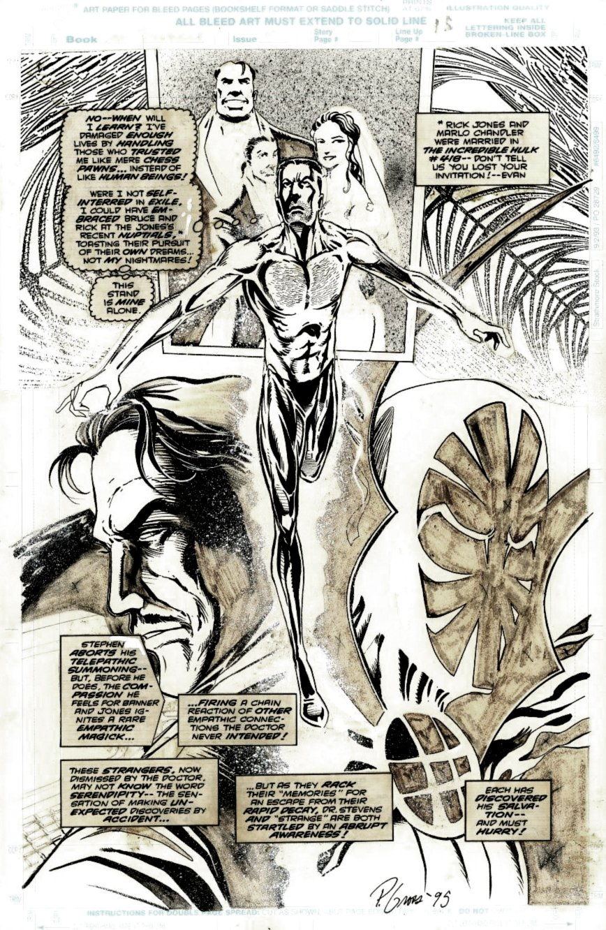 Doctor Strange #70 Splash(SOLD LIVE ON 'DUELING DEALERS OF COMIC ART' EPISODE #28 PODCAST ON 8-2-2021 (RE-WATCH THIS FUNNY ART SELLING SHOW HERE)