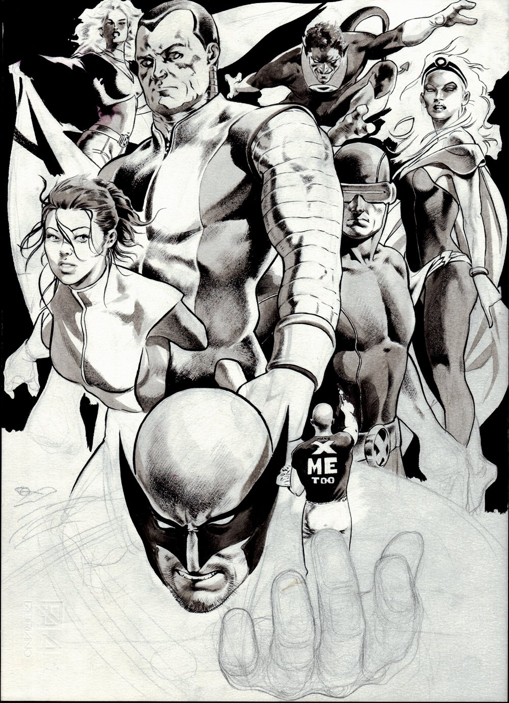 X-Men Pinup SOLD LIVE ON 'DUELING DEALERS PRO-AM' EPISODE #7 PODCAST ON 9-14-2021 (RE-WATCH THIS FUNNY ART SELLING SHOW HERE)