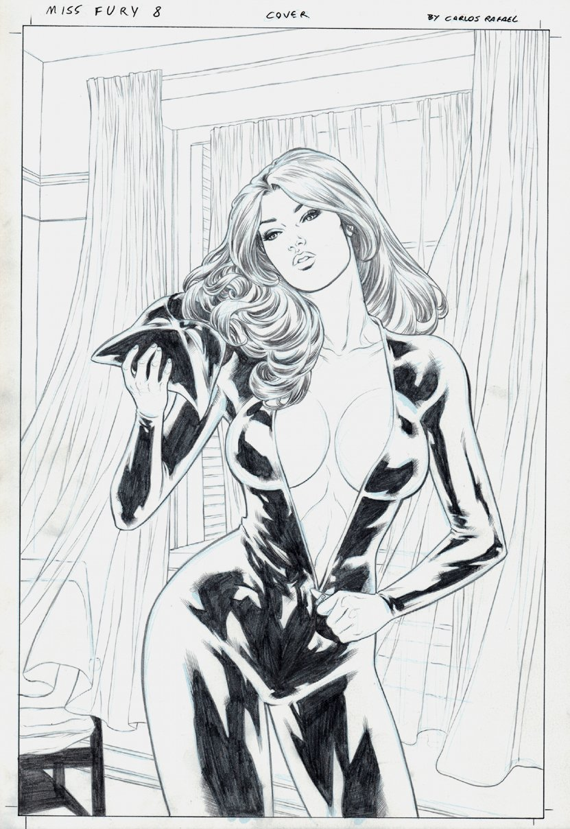 Miss Fury #8 Cover (UNMASKED!) 2013