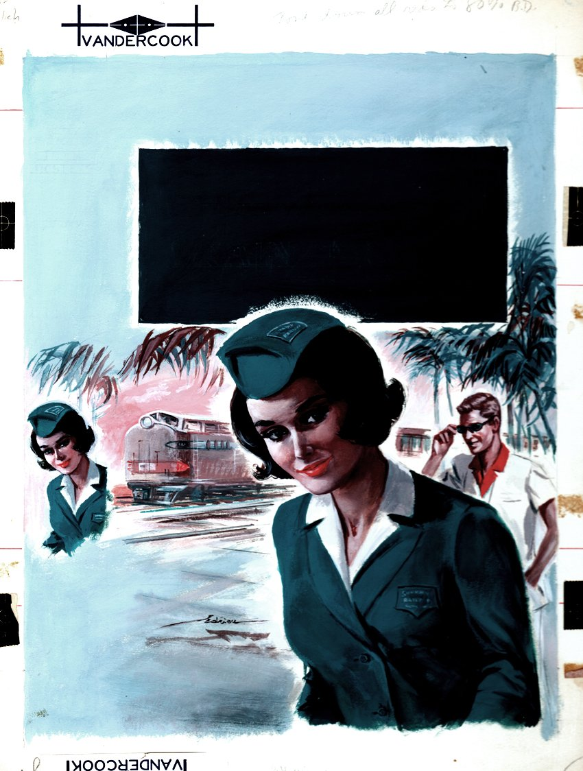 Train Hostages Book Cover Painting (1960)
