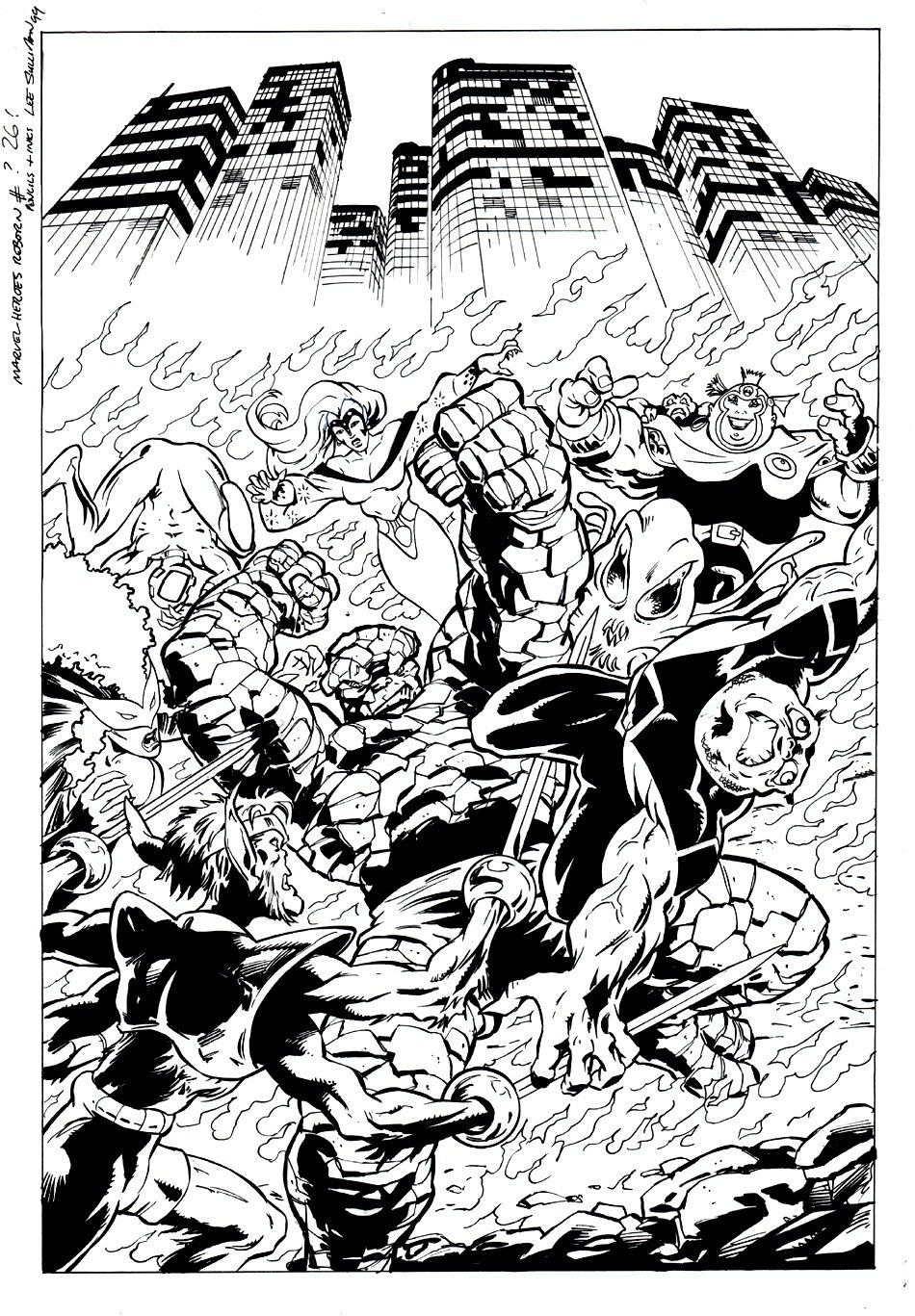 Heroes Reborn #26 Cover (1999)