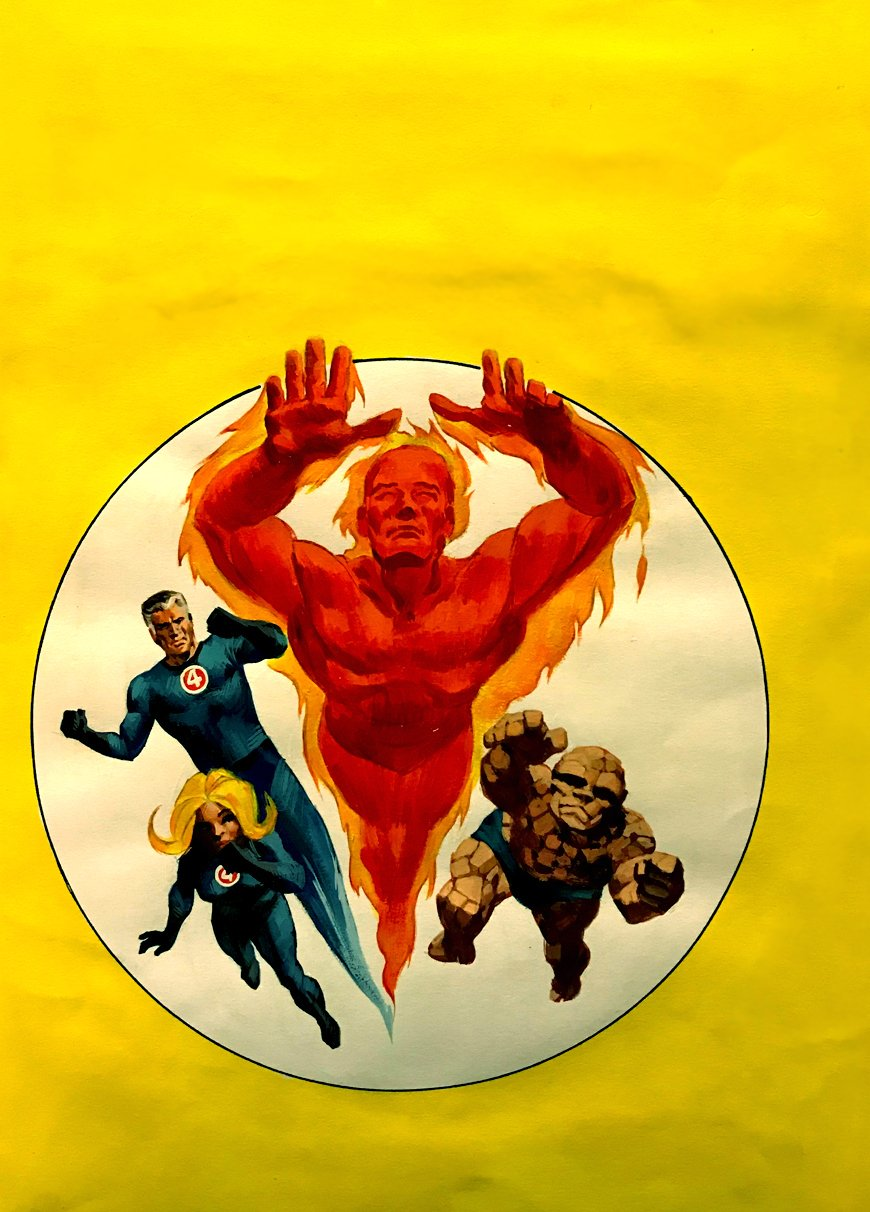 Fantastic Four #19 Cover Painting (Story Reprints Fantastic Four #39-40!) 1971