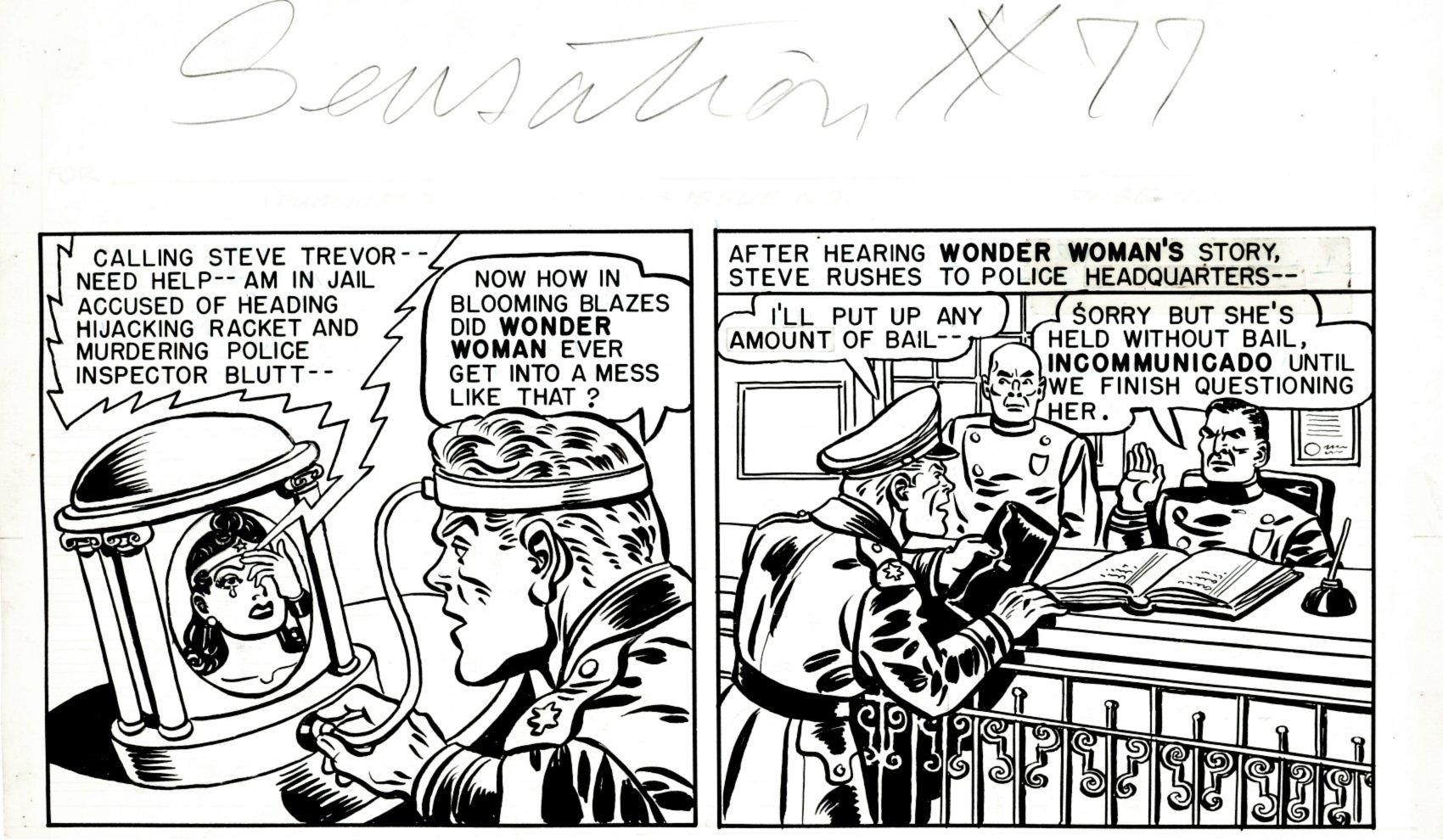 Sensation Comics #77 Unpublished Wonder Woman tier (1940s) SOLD LIVE ON 'DUELING DEALERS EPISODE #36 PODCAST ON 9-15-2021