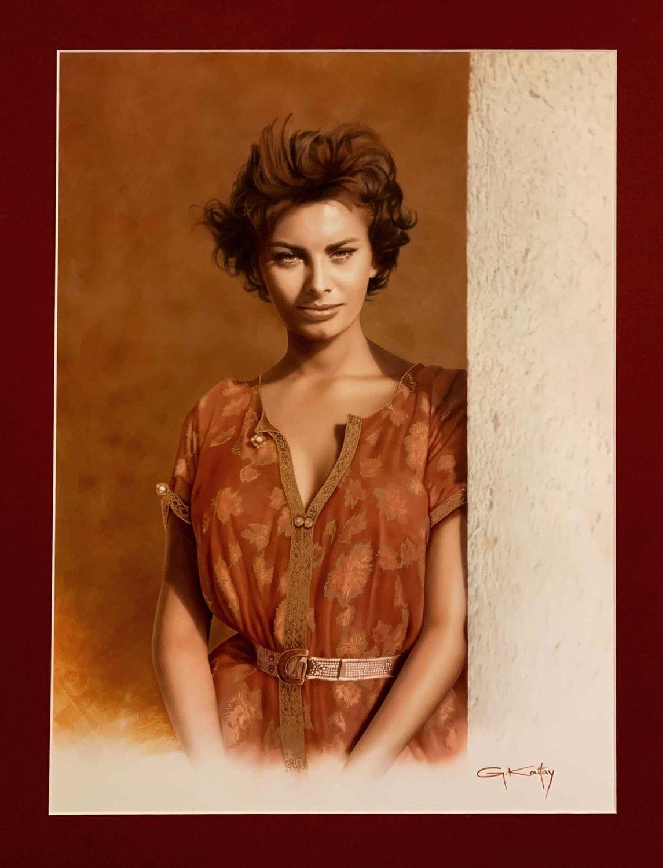 CHINESE ROBE - Sophia Loren Huge Painting (2010)