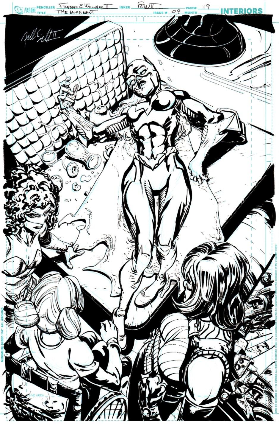 The Movement #9 p 19 SPLASH (Bat-Girl Dead?) 2013