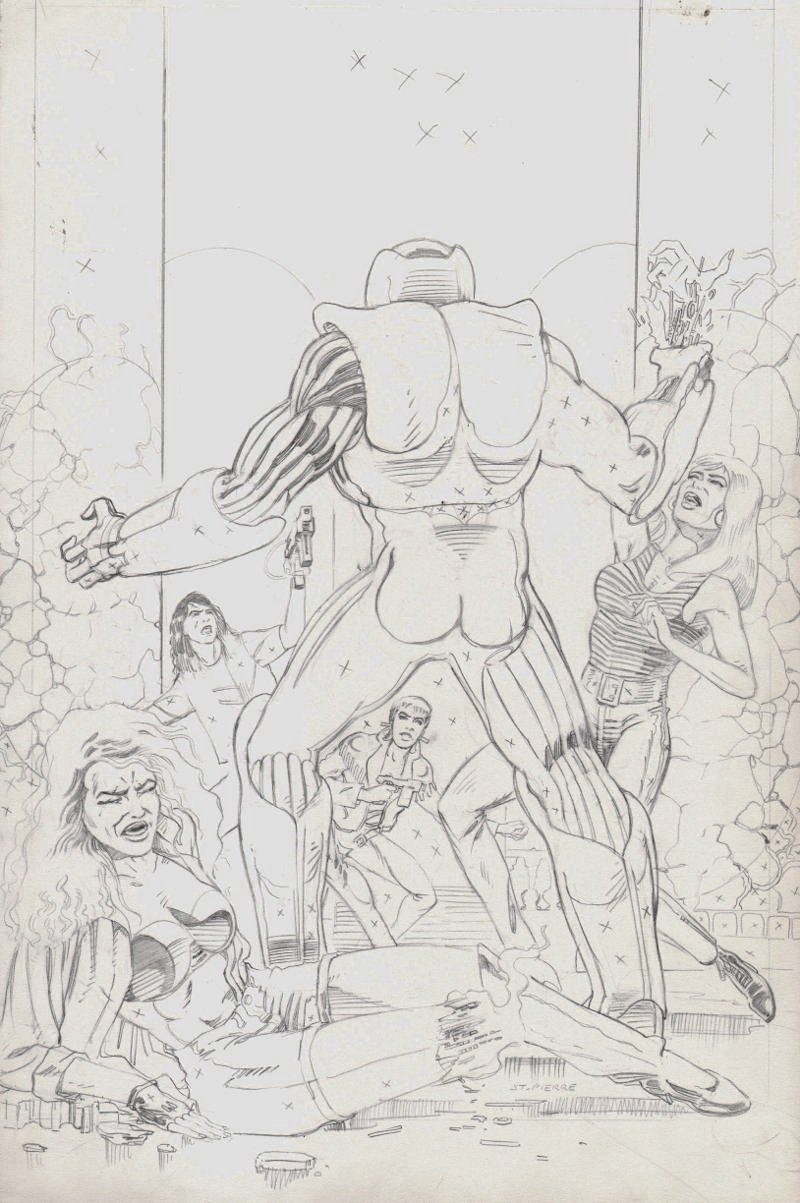 X-O Manowar #6 Unpublished Penciled Cover