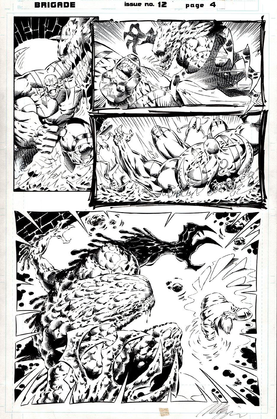 Brigade #12 p 4 (Great Brigade Battle Page!) 1994