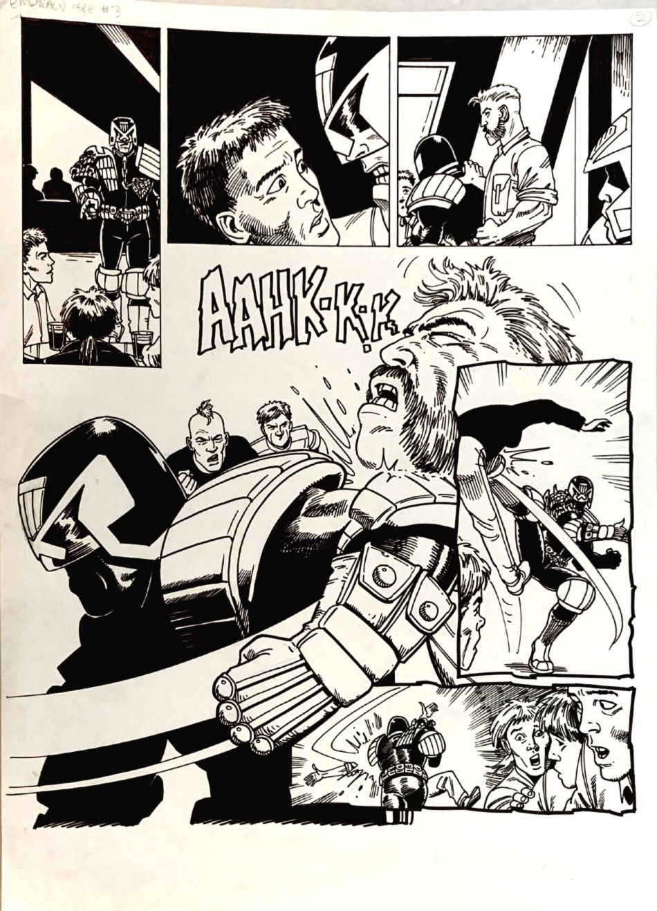 2000 AD #729 p 2 SEMI-SPLASH (JUDGE DREDD BATTLE!) 1991