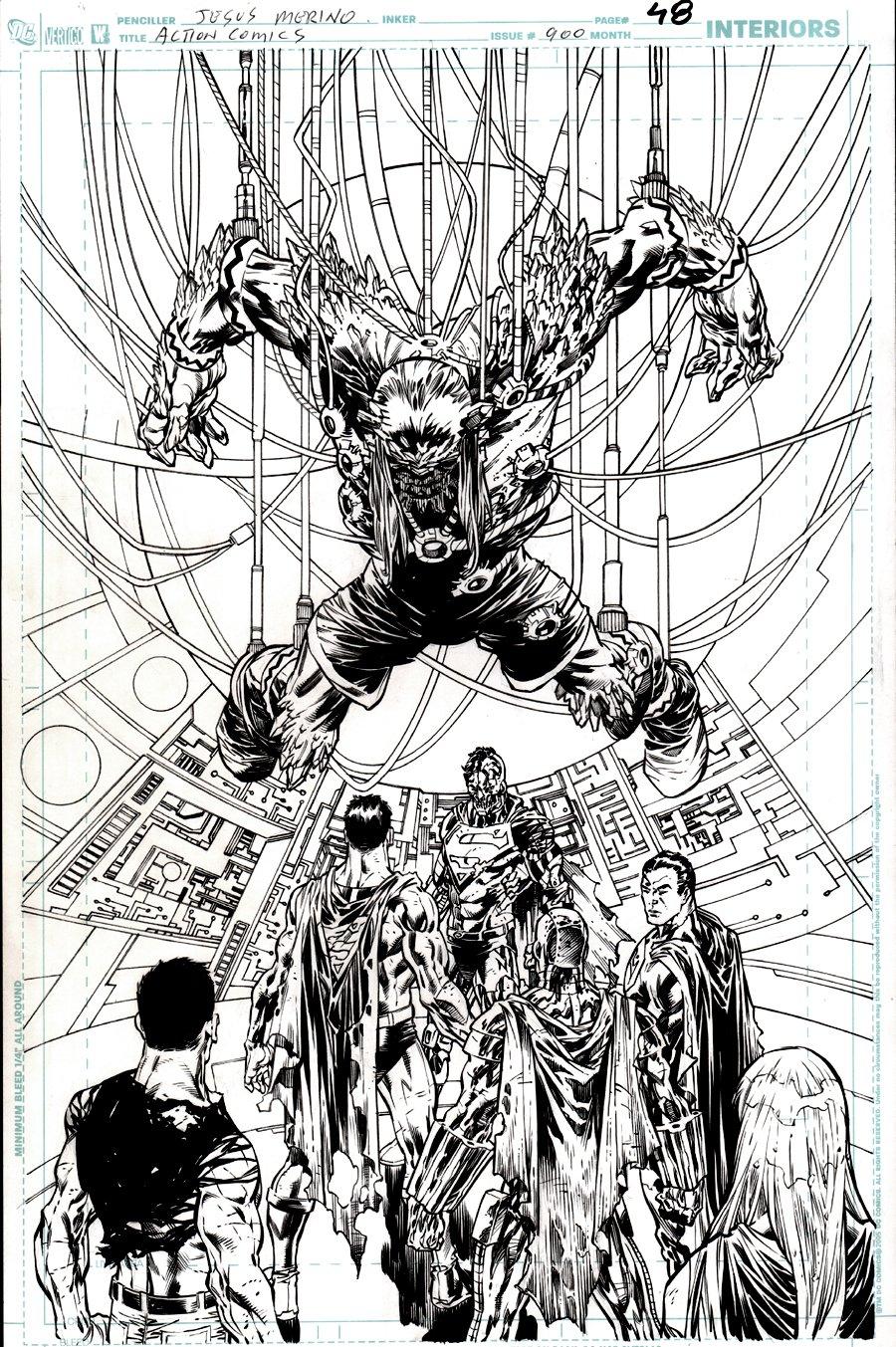 Action Comics #900 p 48 SPLASH (DOOMSDAY & 4 SUPERMEN!) 2011