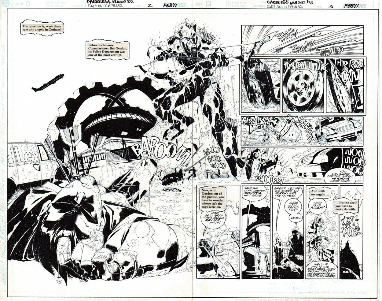 Batman: Orphans #2 p 2-3 Double Spread Splash (2010)