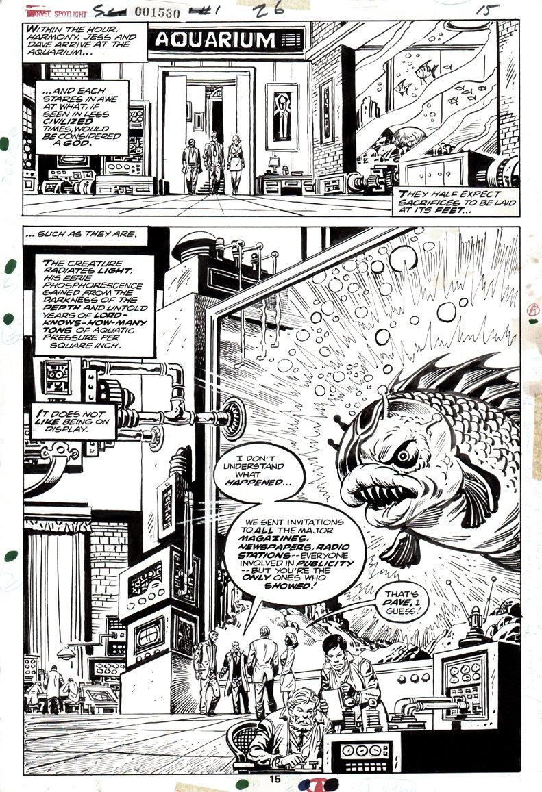 Marvel Spotlight #26 p 15 SPLASH  'THE SCARECROW' (1975)