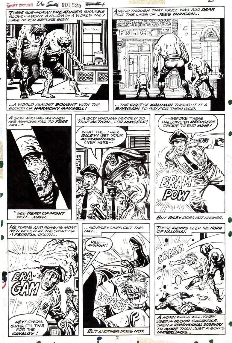 Marvel Spotlight #26 p  2 'THE SCARECROW' (1975)