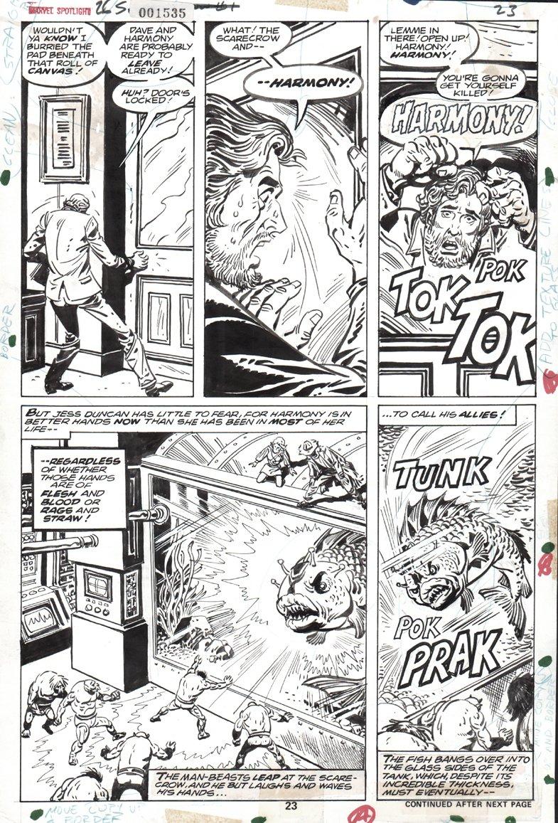 Marvel Spotlight #26 p  23 (THE SCARECROW BATTLES!) 1975