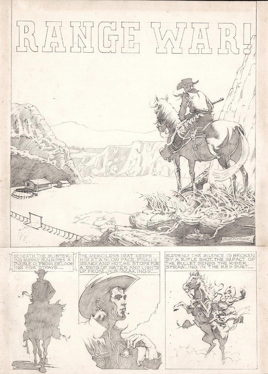 Golden Age Western Splash Page (Large Art)