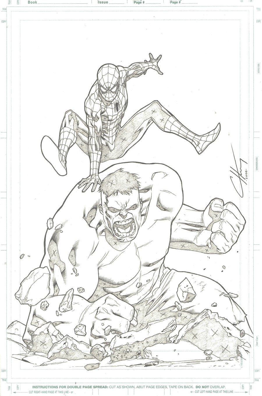Spider-Man Magazine #1 Cover (Spider-Man Battles The HULK!) 2008