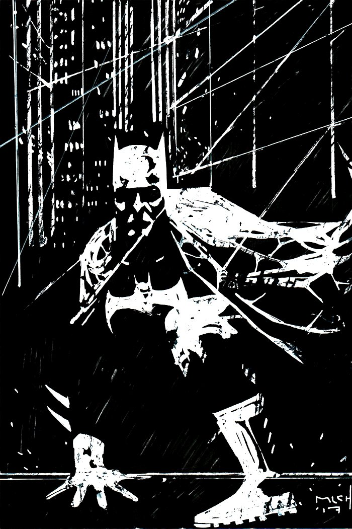 Batman Pinup (SOLD LIVE ON 'DUELING DEALERS OF COMIC ART' EPISODE #37 PODCAST ON 9-22-2021(RE-WATCH THIS FUNNY ART SELLING SHOW HERE)