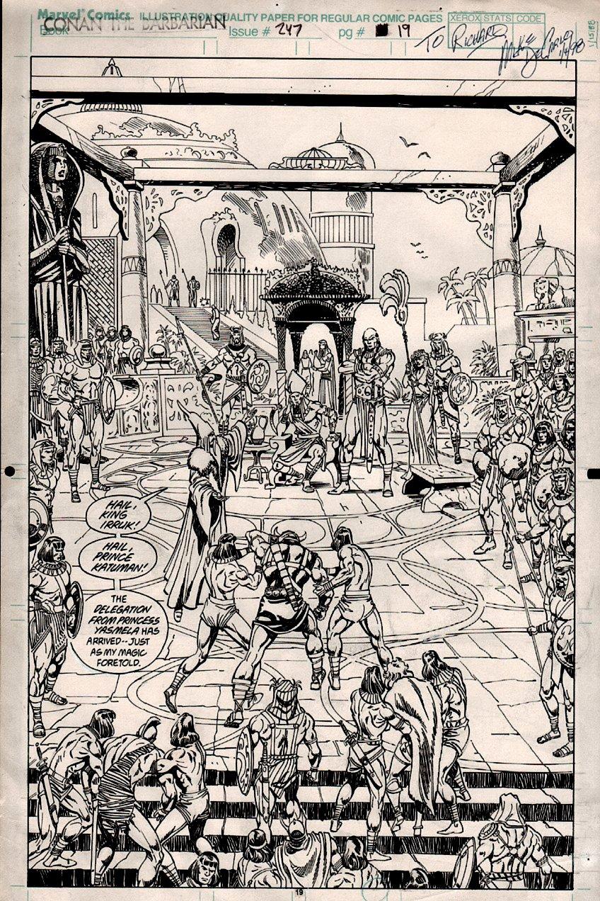 Conan #247 p 19 SPLASH (CONAN PRISONER!) 1991