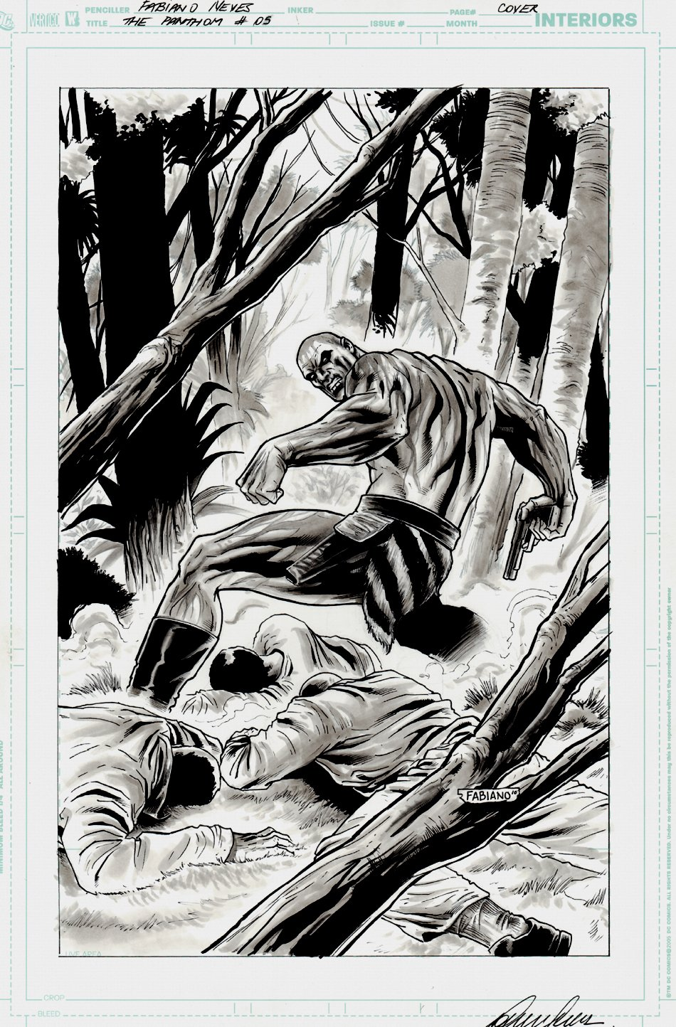 The Last Phantom #5 Unpublished Cover & Penciled Prelim (2010)