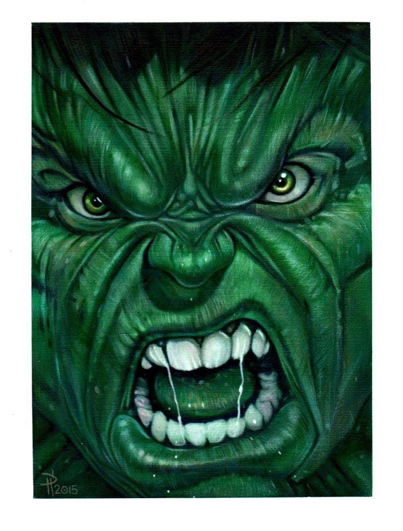 Incredible Hulk Painting
