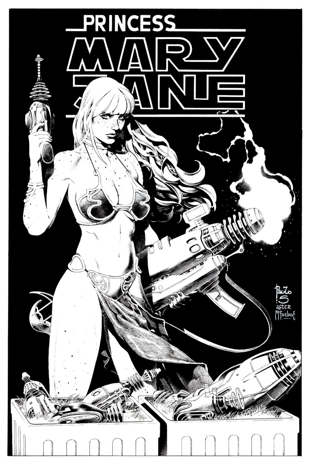Amazing Mary Jane #10 Unpublished Cover (Spawn #7 Cover homage!)