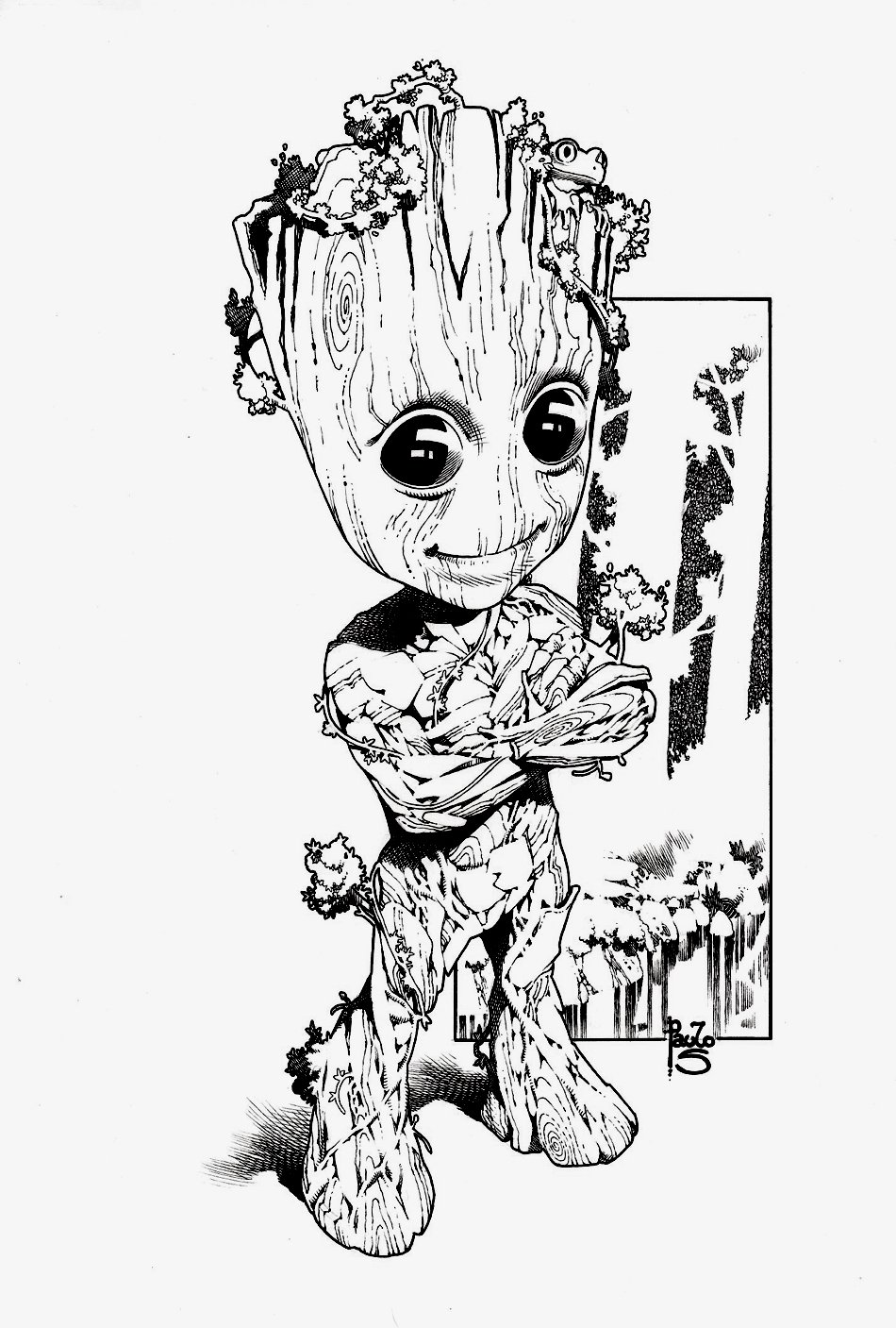 Baby Groot Pinup