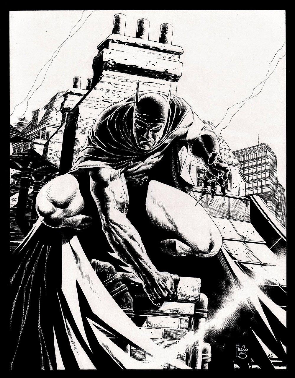 Superbly Detailed Batman Pinup
