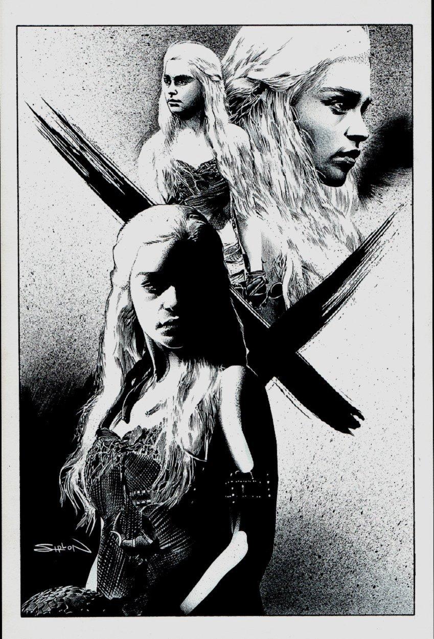 Daenerys Targaryen: 'Mother of Dragons' Game of Thrones Illustration