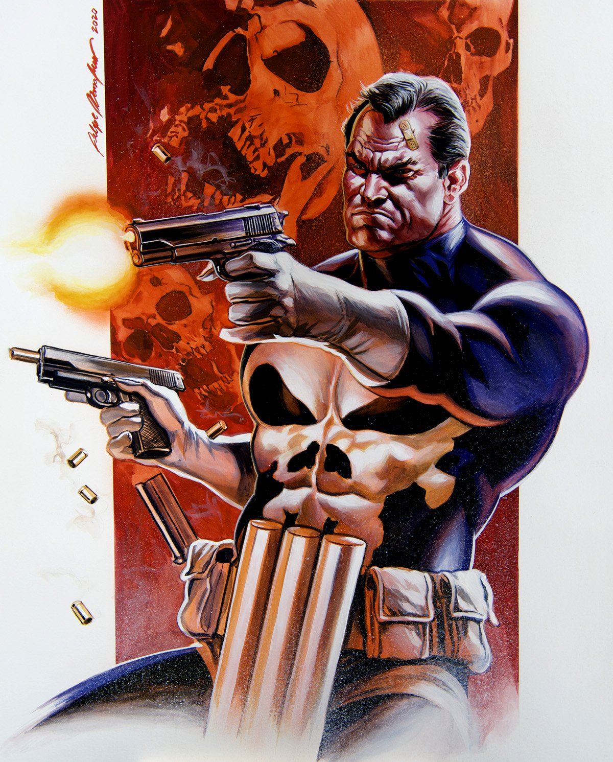 Punisher Large Super Detailed Painting