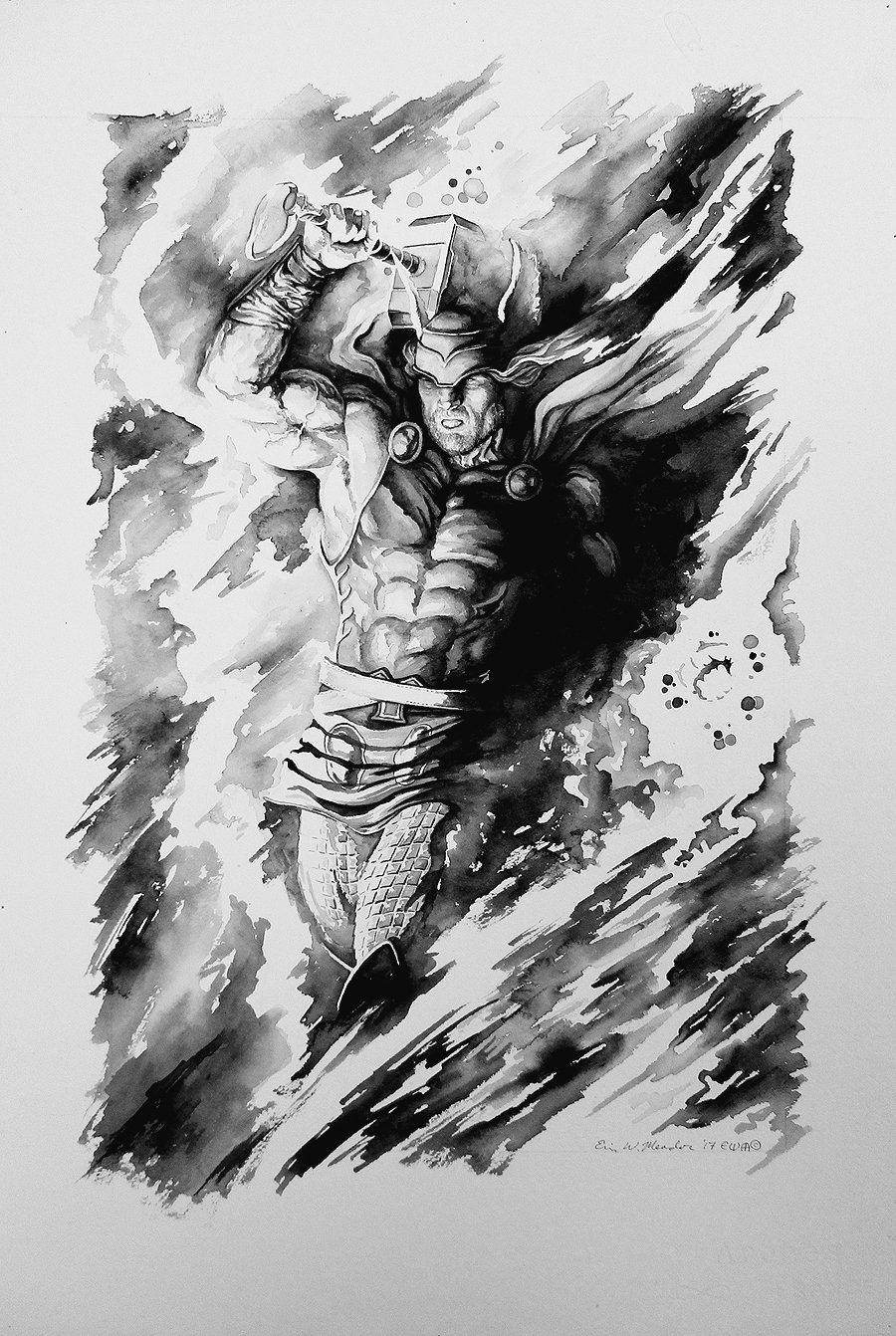 Thor Mixed Media Pinup (Very Large)
