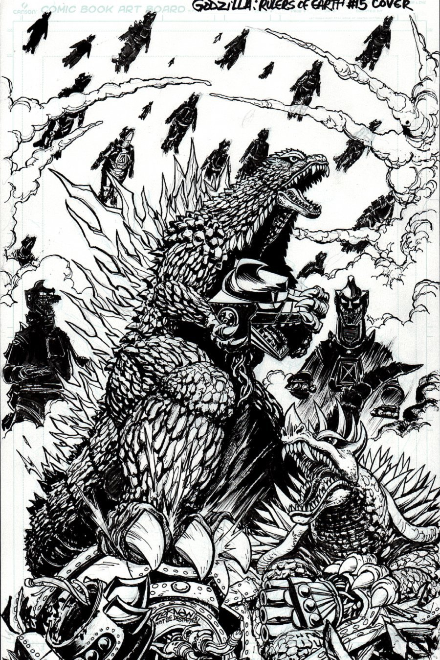 Godzilla: Rulers of Earth #15 Cover (2014)