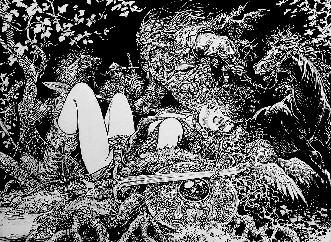 Saga Valta Double Page Spread Illustration