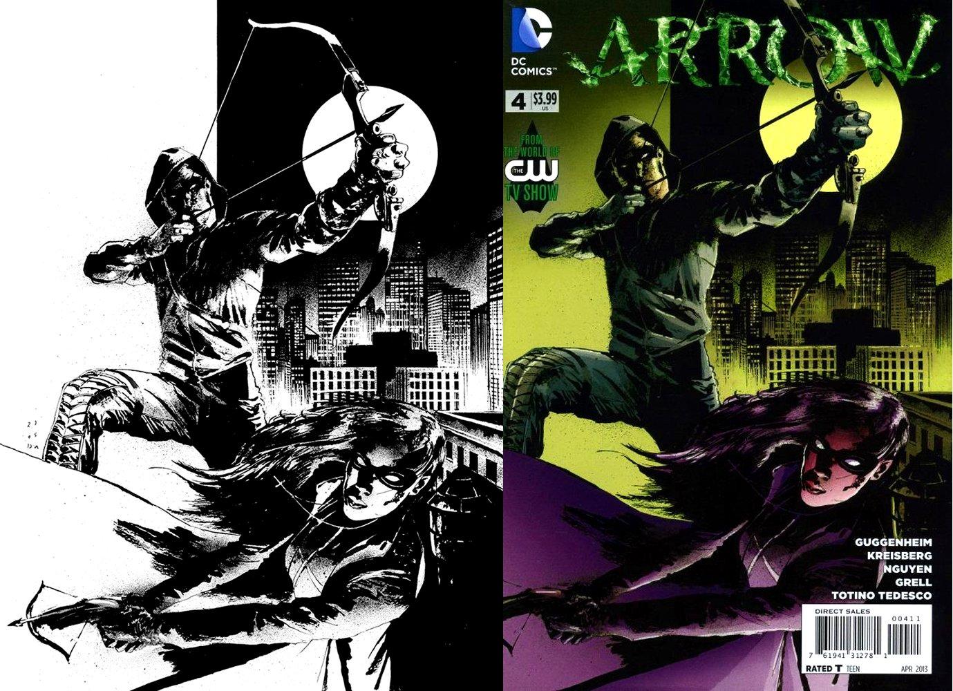Arrow #4 Huge Cover (STUNNING GREEN ARROW & HUNTRESS!) 2012