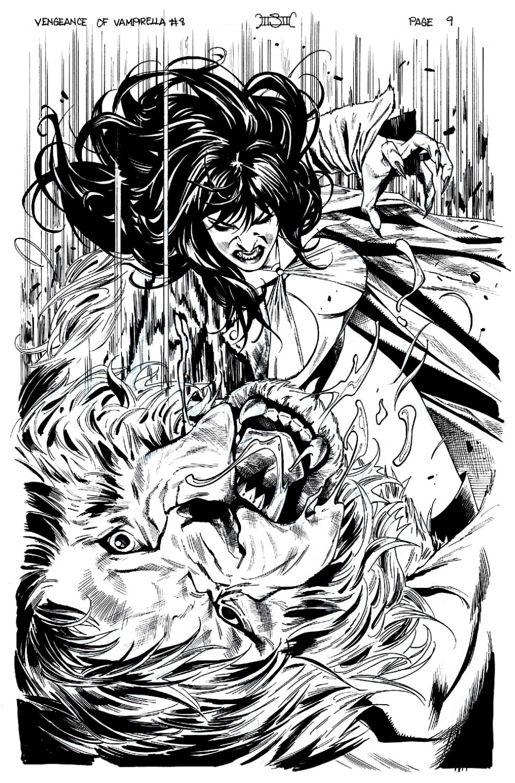 Vengeance of Vampirella #8 SPLASH (VAMPY BATTLES A WEREWOLF!) 2019