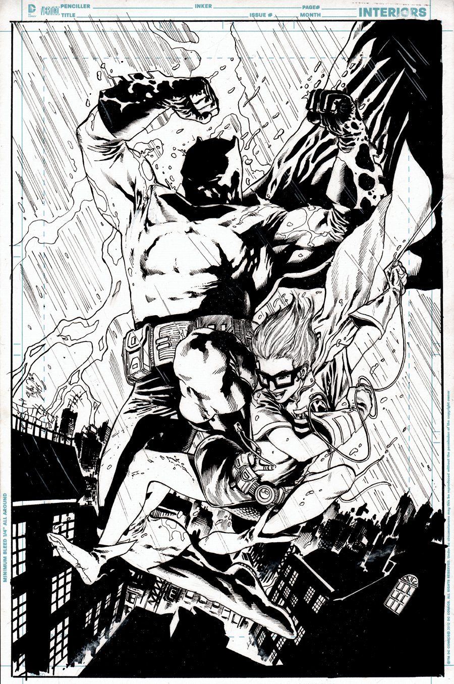 The Dark Knight & Robin Stunning Action Pinup (2015)