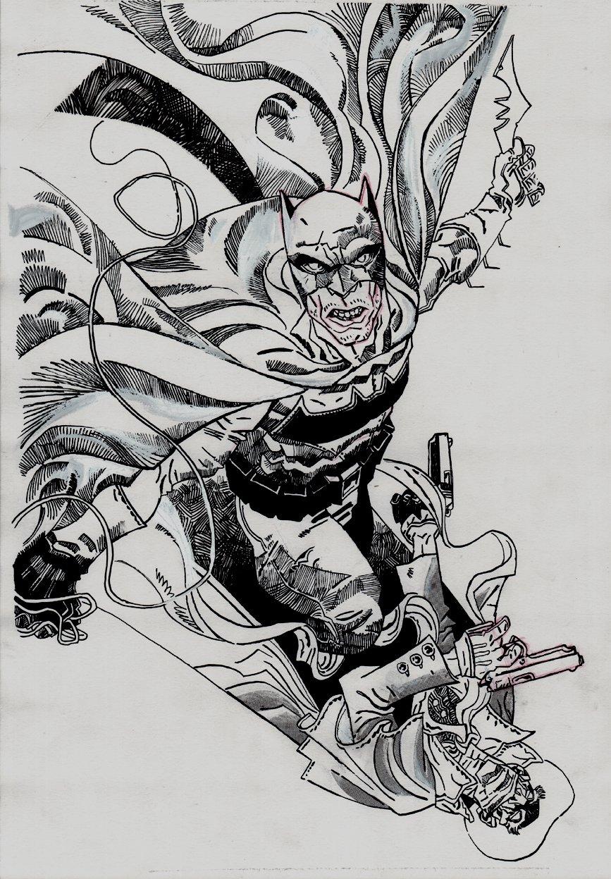The Shadow / Batman #2 Cover (2017)