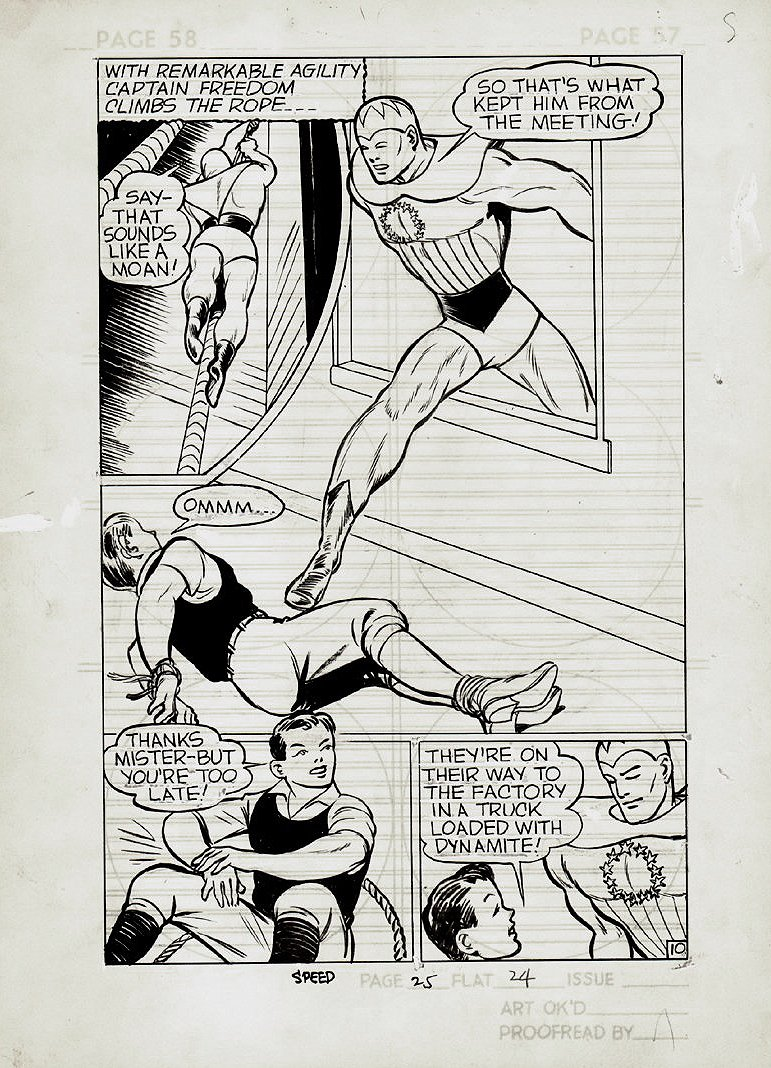 Speed Comics #14 p 10 SPLASH (FIRST FULL CAPT. FREEDOM STORY!) 1941