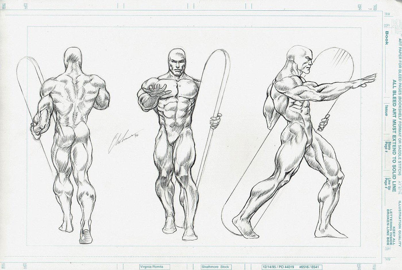 SILVER SURFER Style Guide Art For Model / Statue (1996)