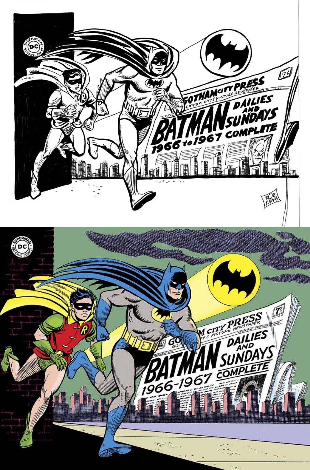 Batman: Dailies & Sundays Cover Mockup (SOLD LIVE ON 'DUELING DEALERS OF COMIC ART' EPISODE #31 PODCAST ON 8-14-2021(RE-WATCH THIS FUNNY ART SELLING SHOW HERE)