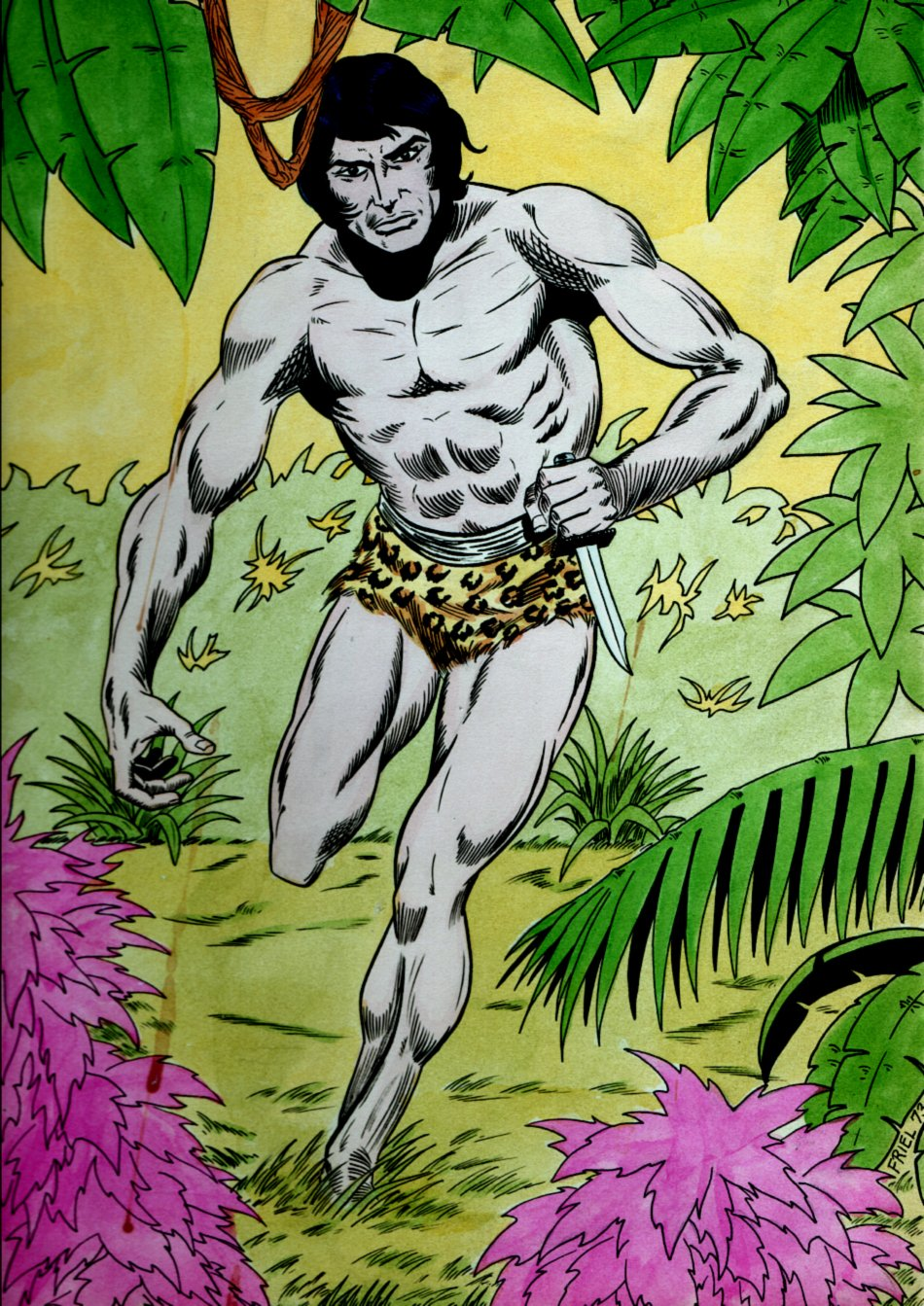 TARZAN Mixed Media Pinup (Large) 1973