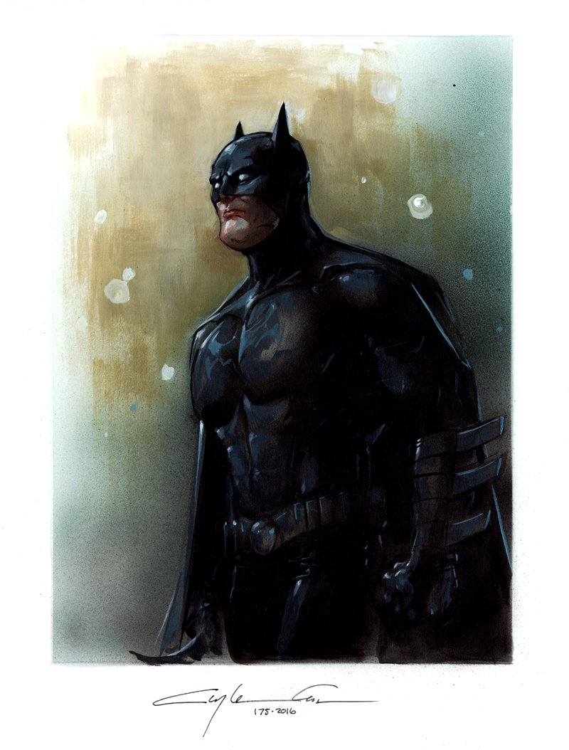 Batman Very Detailed Painted Pinup (2016)