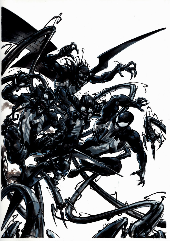 Venom #150 Variant Oversized Cover (Venom Battles Venomized Green Goblin, Doc Ock, & Vulture!) 2017