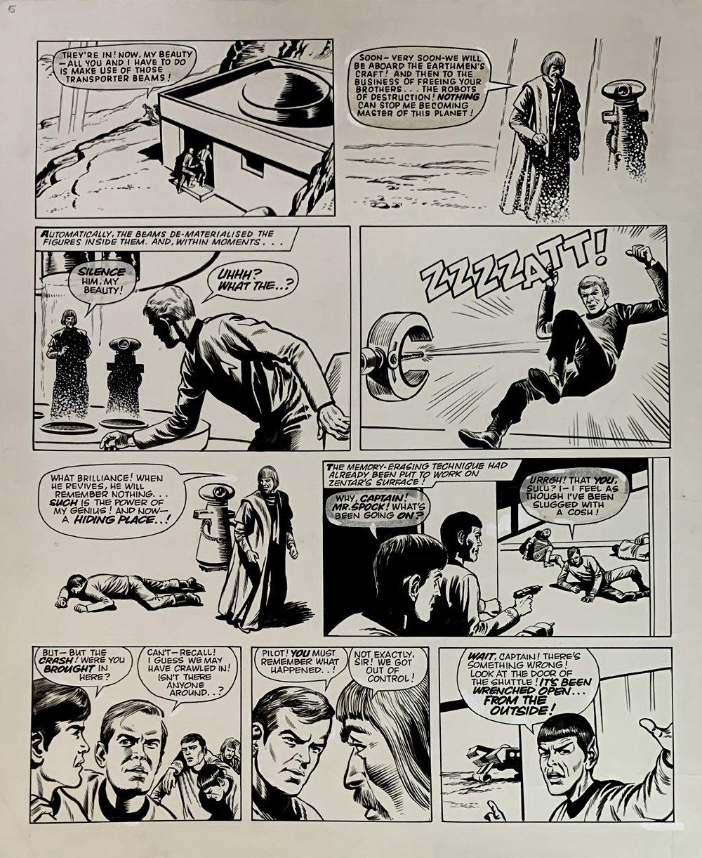 Star Trek Newspaper Strip 1-6-1972 (VERY LARGE)