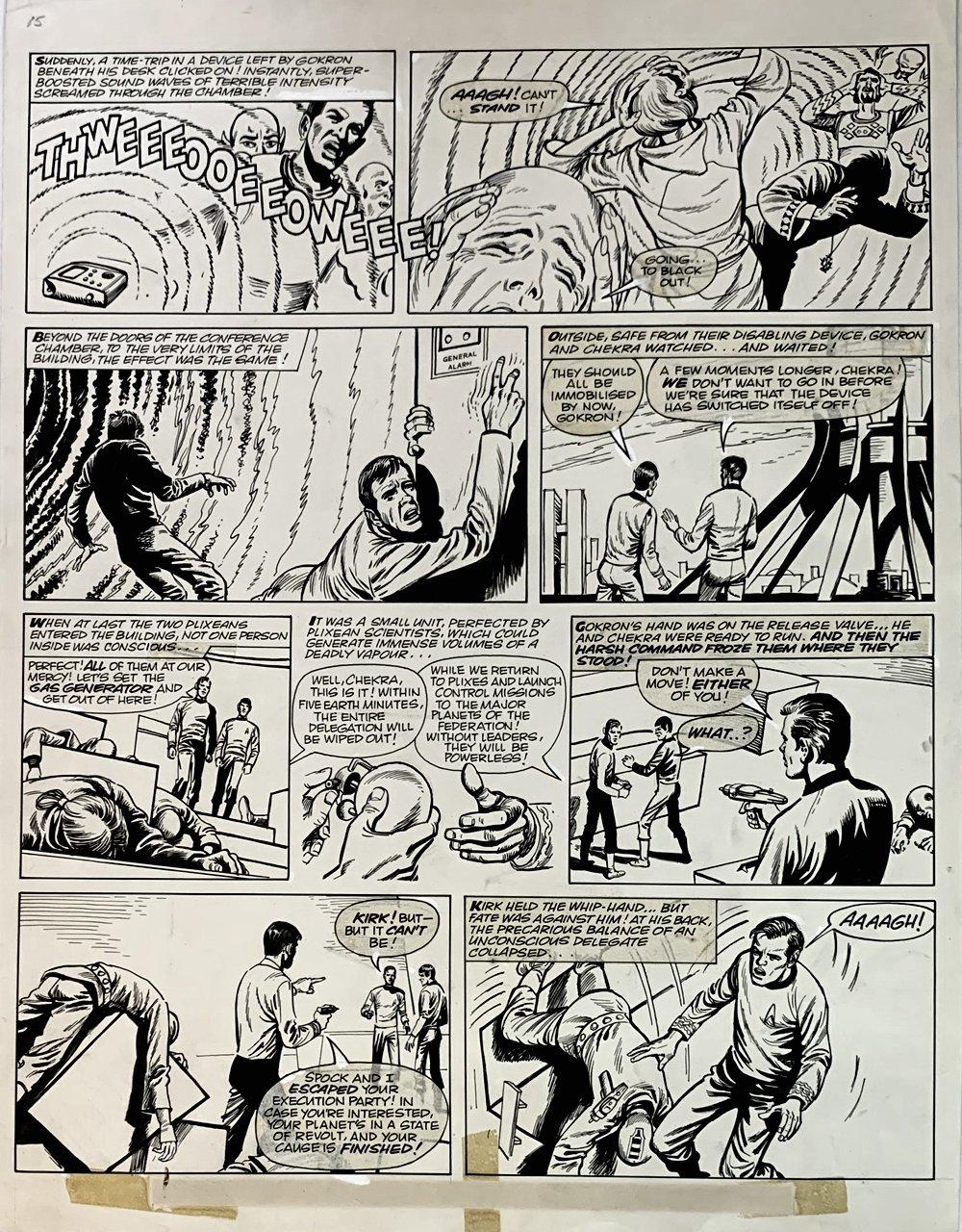 Star Trek Newspaper Strip 12-15-1973 (2ND TO LAST STRIP!) VERY LARGE