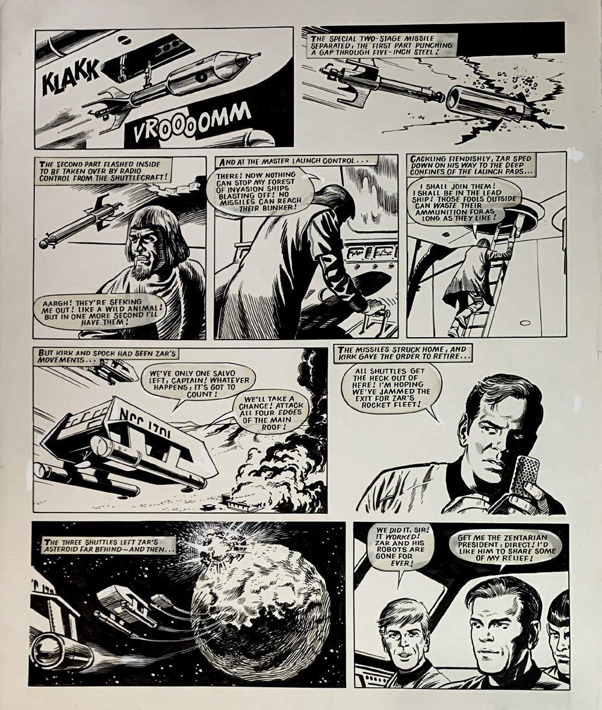 Star Trek Newspaper Strip 2-17-1973 (VERY LARGE)