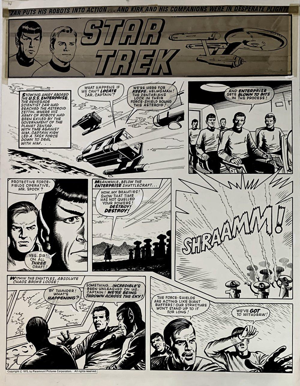 Star Trek Newspaper Strip 2-3-1973 (VERY LARGE)