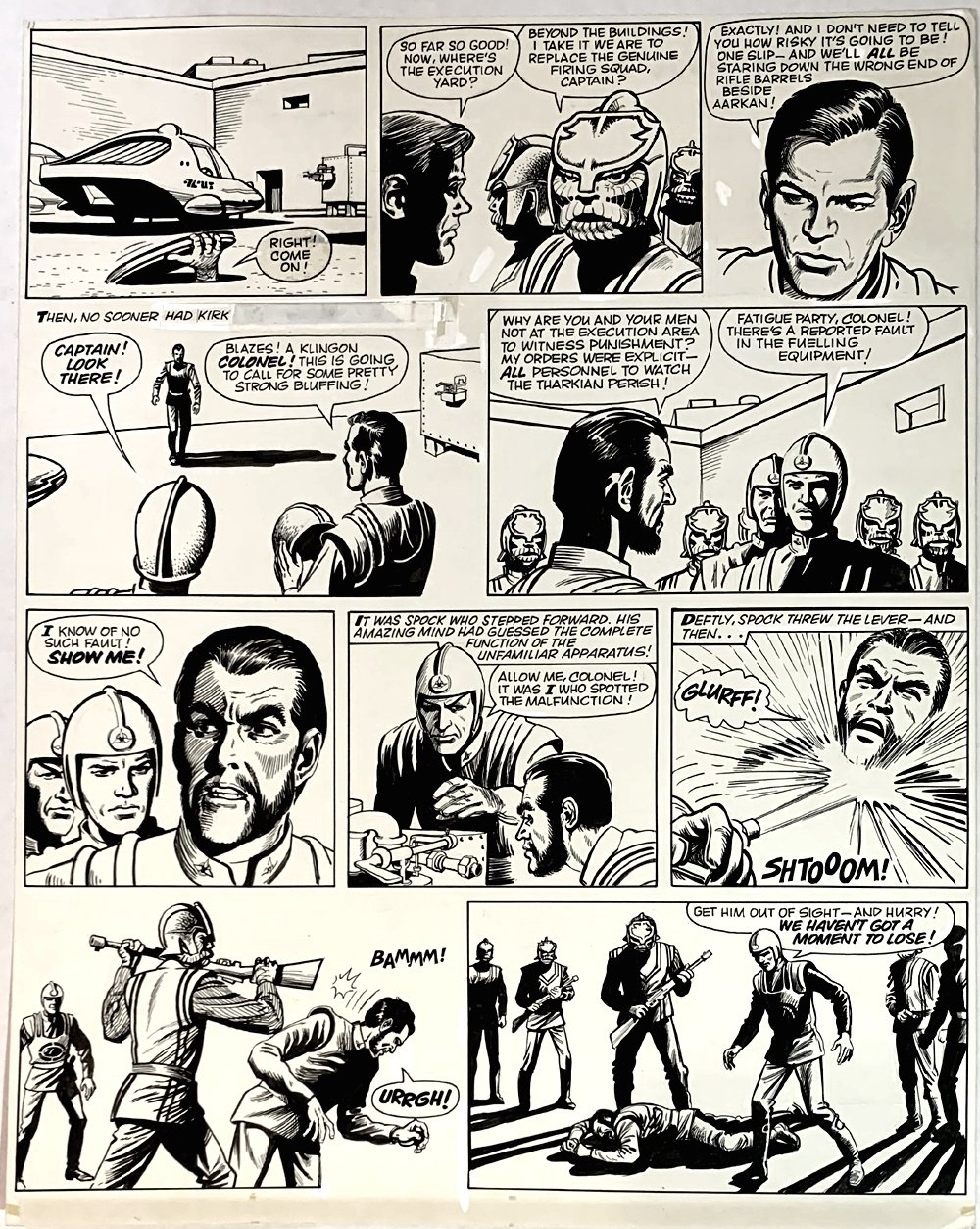 Star Trek Newspaper Strip 4-28-1973 (VERY LARGE)