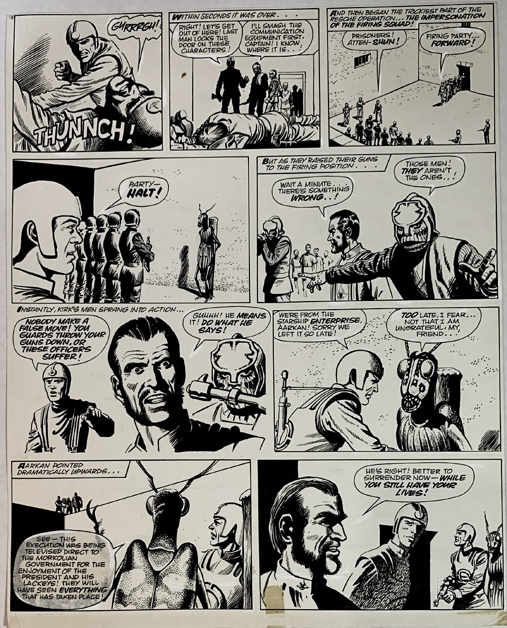 Star Trek Newspaper Strip 5-5-1973 (VERY LARGE)