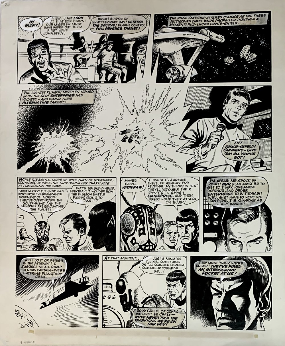 Star Trek Newspaper Strip 6-2-1973 (VERY LARGE)
